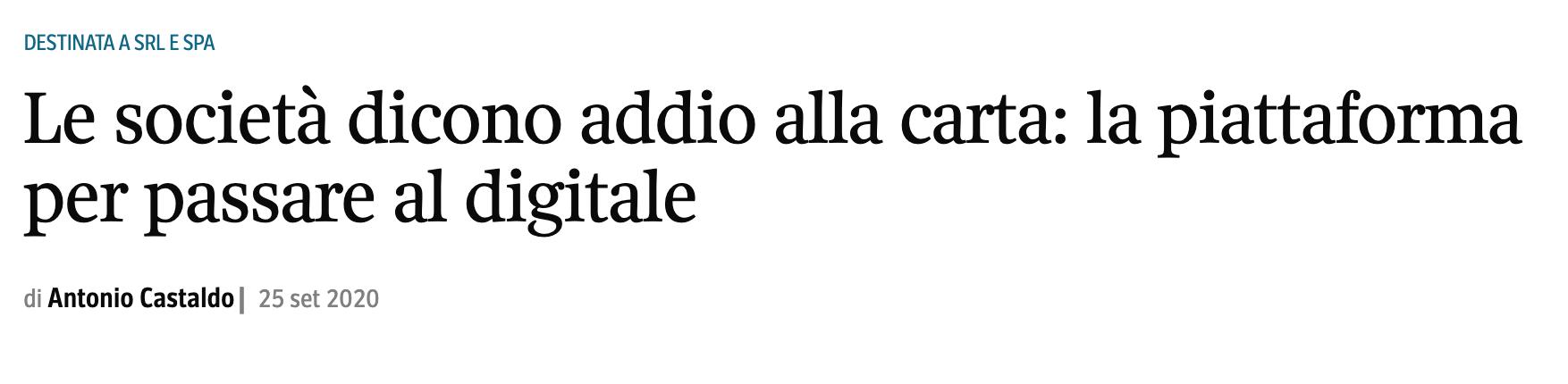 Corriere della Sera – 25/09/2020